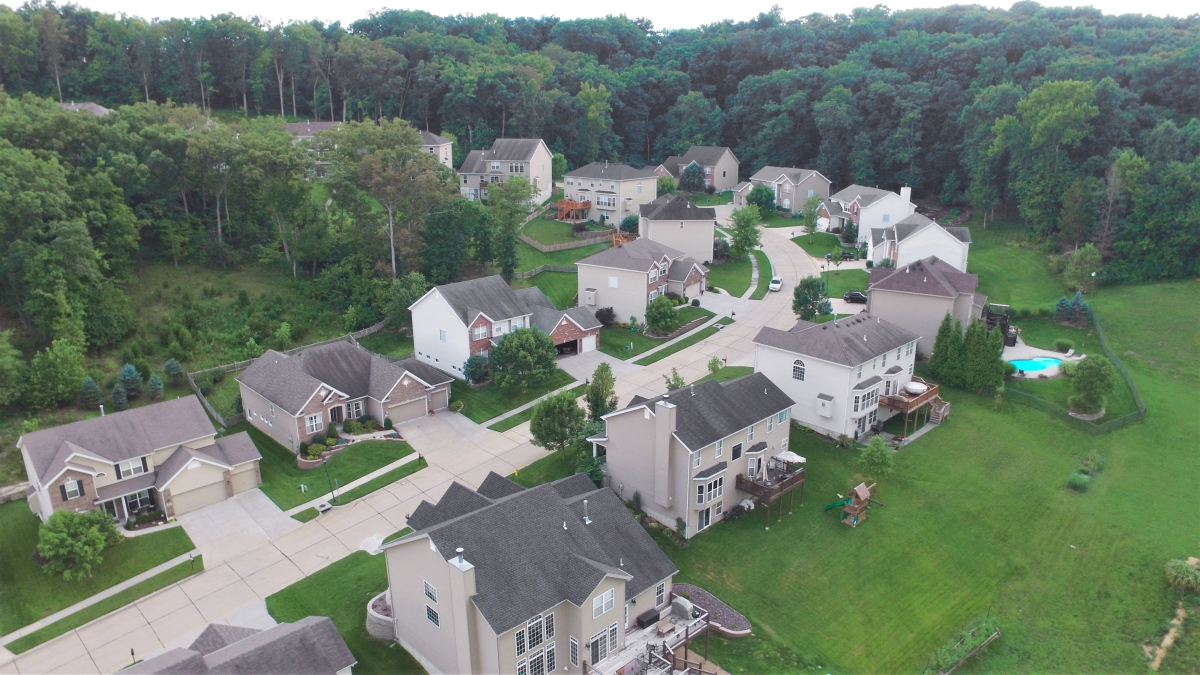 Aerial view of St. Louis Homes
