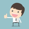 Cartoon Image of guy with thumbs up for Will Buscher being the Best St. Louis Realtor!
